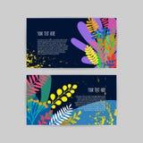 美丽的创造性的卡片的汇集 皇族释放例证