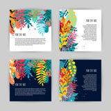 美丽的创造性的卡片的汇集 库存例证