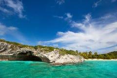 美丽的加勒比海岸 库存图片