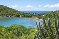 美丽的加勒比海湾和风景 库存图片