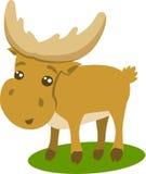 美丽的动画片驯鹿的例证 免版税库存图片