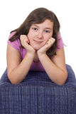 美丽的十几岁的女孩画象  免版税库存图片