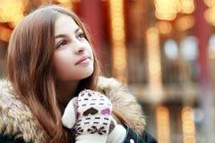 美丽的十几岁的女孩 免版税库存图片