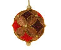 美丽的华丽圣诞节球,查出 库存照片