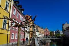 美丽的卢布尔雅那,斯洛文尼亚 免版税库存图片
