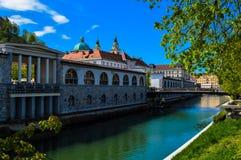 美丽的卢布尔雅那,斯洛文尼亚 库存图片