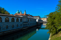 美丽的卢布尔雅那,斯洛文尼亚 免版税图库摄影