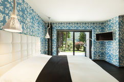 美丽的卧室 免版税图库摄影