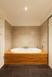美丽的卫生间,浴缸 库存图片