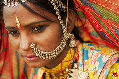 美丽的印地安人 免版税库存图片