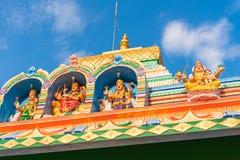 美丽的印地安大厦的看法, Puttaparthi,安得拉邦,印度 特写镜头 免版税库存照片