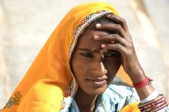 美丽的印地安夫人 免版税库存照片