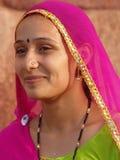 美丽的印第安夫人 库存照片