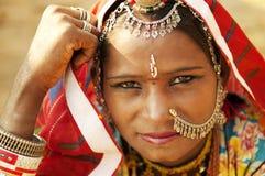 美丽的印第安妇女 免版税库存照片