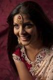 美丽的印第安笑的妇女 库存照片