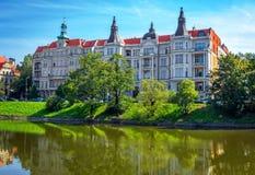 美丽的历史建筑看法在弗罗茨瓦夫 图库摄影
