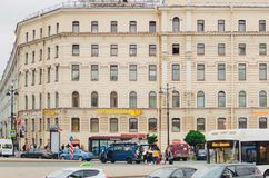 美丽的历史建筑 圣彼德堡建筑学  免版税库存图片