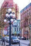 美丽的历史的区温哥华- Gastown -温哥华/加拿大- 2017年4月12日 免版税图库摄影