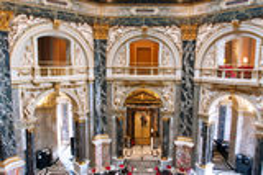 美丽的历史美术馆 免版税库存图片