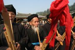 美丽的原始村庄在贵州,中国 库存图片