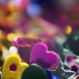 美丽的发光的闪耀的情人节装饰 免版税库存图片