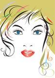 美丽的发型夫人 免版税库存图片