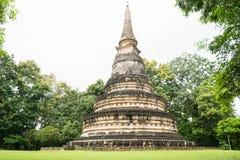 美丽的古老塔在Wat Umong, Chiangmai,泰国 图库摄影