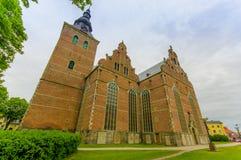 美丽的哥特式教会在Kristianstad,瑞典 库存照片