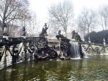 美丽的喷泉在都灵 图库摄影
