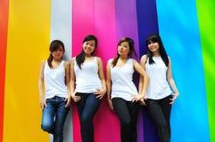 美丽的四个女朋友 免版税图库摄影