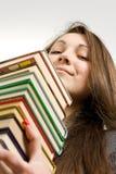 美丽的图书管理员年轻人 免版税图库摄影