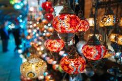 美丽的土耳其马赛克灯 免版税库存照片