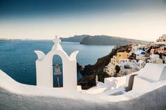 美丽的圣托里尼海岛,希腊 免版税库存照片