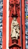 美丽的圣母堂的细节在维尔茨堡,德国 免版税库存图片