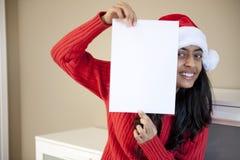 美丽的圣诞节女孩纵向  免版税库存图片