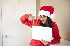 美丽的圣诞节女孩纵向  免版税库存照片