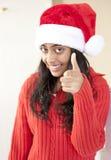 美丽的圣诞节女孩纵向  图库摄影