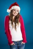 美丽的圣诞节妇女 库存图片