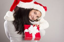 美丽的圣诞节家庭 免版税库存照片