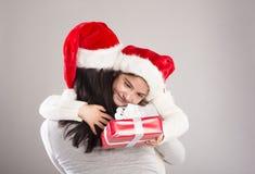 美丽的圣诞节家庭 免版税图库摄影