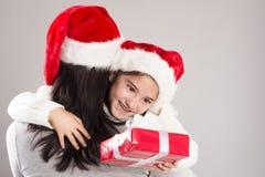 美丽的圣诞节家庭 免版税库存图片
