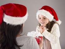 美丽的圣诞节家庭 图库摄影