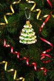 美丽的圣诞节树玩具 免版税图库摄影
