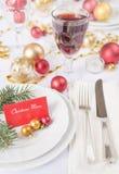 美丽的圣诞节表 免版税图库摄影