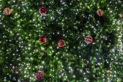 美丽的圣诞节装饰结构树 库存图片