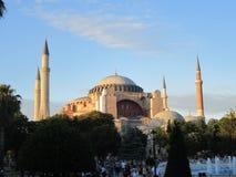 美丽的圣索非亚大教堂在伊斯坦布尔,土耳其 免版税库存图片