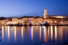 美丽的地中海Krk海岛克罗地亚 免版税图库摄影