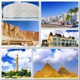 美丽的埃及的拼贴画 库存图片