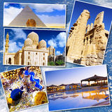 美丽的埃及的拼贴画 免版税库存图片