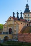 美丽的城堡在涅斯维日,白俄罗斯 库存照片